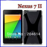 New nexus 7 2 Anti-skid design tpu case, New High quality X Line TPU Gel Case For google nexus 7 II  Wholesale 100pcs/lot