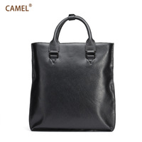 Camel camel vertical handbag cowhide briefcase man bag casual mb157002-2a