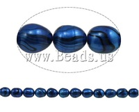 Free shipping!!!Rice Cultured Freshwater Pearl Beads,Promotion, natural, blue, A, 8-9mm, Hole:Approx 0.8mm, Length:15 Inch