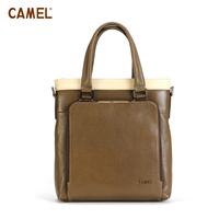 Camel camel cowhide color block bag man bag vertical mb018109-00 handbag