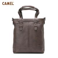 Camel camel high quality cowhide handbag vertical Men fashion briefcase bag mb127006-02