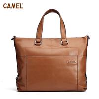 Camel camel commercial cowhide handbag male briefcase bag mb124031-03