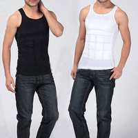 Men's Slimming Body Shaper Belly Fatty Underwear Vest Shirt Corset Compression