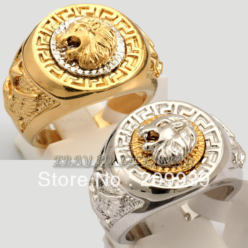 hj 0045 Fashion Cool Lion Eagle Star Ring 18K GP(China (Mainland))