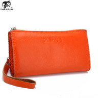 Free shipping Male leather clutch male big capacity bags soft leather lovers long design wallet