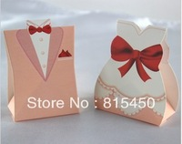 WHOLESALE GOWN wedding candy box/Favor Box FREE SHIP