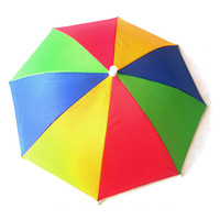 Free shipping handsfree hat umbrella novelty fold outdoor fishing umbrella  dropship