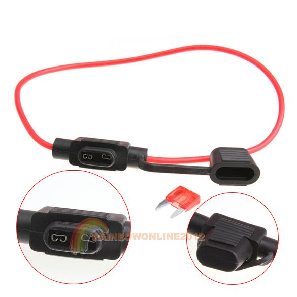 Гаджет  R1B1 Waterproof Power Socket Mini Blade Type In Line Fuse Holders With 10A Fuse None Изготовление под заказ
