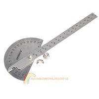 R1B1 Hot Fashion 90 x 150mm Protractor Round Head Stainless Steel General Tool