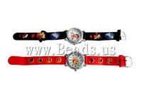 Free shipping!!!Zinc Alloy watch bracelet,Wholesale, with Silicone zinc alloy clasp platinum color plated mixed colors 10pcs/lot