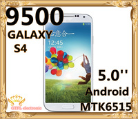 "New S4 Unlocked GSM Quad Band Dual Sim Cards 5.0"" 9500 i9500 MTK6515 Cell phone Support Russian language Multi-lingual"