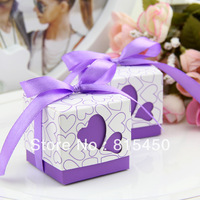 Hollowed Heart Elegant Wedding DIY Paper Gift,wedding favor box,favor box,Candy Box free shipping