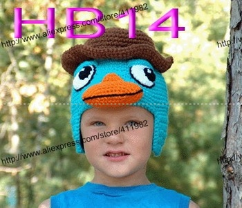 free shipping,100 piece/lot Donald duck cartoon 3D BABY CROCHET HATS