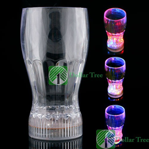 Free shipping: LED Flash Color Changing Bar Night Light Lamp Drink Cup wholesale(China (Mainland))