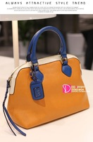 Ddpopo 2013 female bags women's handbag knitted zipper head color block w435 messenger bag