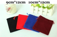 50pcs/lot 9cm*12cm / 10cm*12cm Flannel gift pouches for jewelry display small jewelry bag free shipping