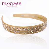 Elegant wide hair band hair accessory crystal rhinestone full rhinestone headband hair pin 00226