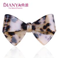 Elegant acetate leopard print hairpin clip spring clip folder bow hair accessory 021