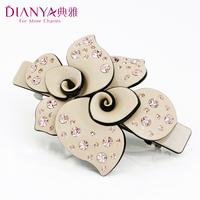 Elegant quality hair accessory fashion rhinestone spring clip folder clip horsetail clip 077