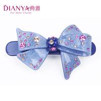 Elegant hair accessory rhinestone bow hairpin hair accessory spring clip folder clip