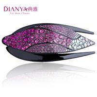 Elegant hair accessory hair accessory duckbill clip Large plate hairpin rhinestone handmade combs 00753
