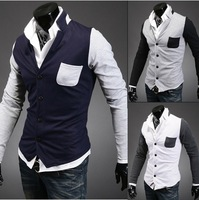 Free Shipping New Men's Slim Jacket Men's Jacket Men's cardigan style jacket  size M-XXL  Y201