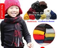 2014 fall winter new arrival wholesale 5pcs/lot wool Cotton children tee thicken turtleneck under boy kids T shirt