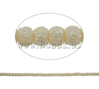 Free shipping!!!Stardust Glass Beads,Designer, Round, beige, 5mm, Hole:Approx 1mm, Length:Approx 31.5 Inch, 10Strands/Bag