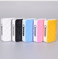 Free Fedex2013 Newest mini Wallet style 5200mAh Power Bank USB Battery Charger External Battery Pack With LED Lighting
