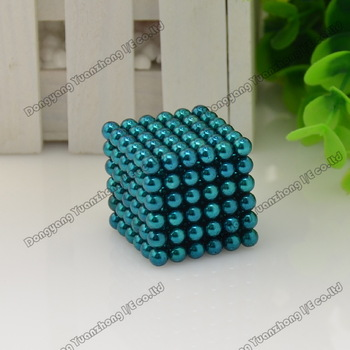 Wholesale! Best Selling! tin package/size: 5mm 216pcs/set Buckyballs,Neocube,Magnetic Balls/ color:blue Free shipping