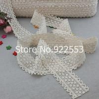 Free shipping 5cm wide Cotton lace ribbon lace embroidery lace beautiful cross stitch