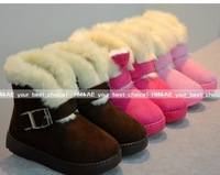 2013 winter new boys and girls plus velvet warm thick cotton-padded non-slip shoes small Tonggao Bang--AD065