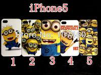 Despicable Me Minions case hard back Cover for iPhone 5 wholesale 100pcs/lot