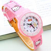 Trend fashion fine scale kt cat child watch male women's strap watch