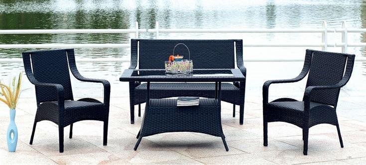Table basse en verre en osier magasin darticles for Table exterieur osier