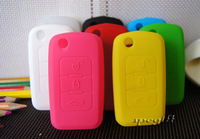 free shipping car key case cover wallet silica gel many colours for Geely Emgrand