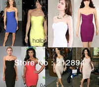 Celebrity Bandage Dress New Fashion Strapless Bodycon Bandage Evening dress Party dress