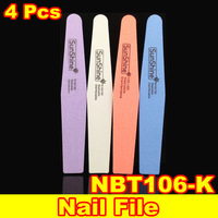 [ Retail ] 4 x Double Side 100/180 High Quality Nail File Buffer Sanding Washable Manicure Tool + Free Shipping