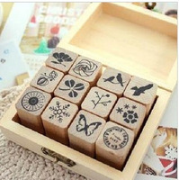 Exquisite wooden buckle stamp diary stamp cartoon stamp natural