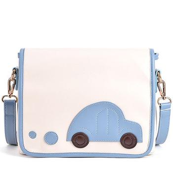 Summer fresh 2013 small shoulder bag brief all-match car messenger bag color block
