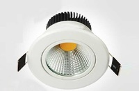 6PCS/LOT Free shipping led COB chip 3w spotlights ceiling lights 290lm AC110v 220 v 240v