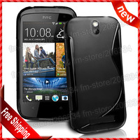 Desire 500 S-type TPU back case , New S Line TPU Gel Case Cover For HTC Desire 500 By DHL free shipping