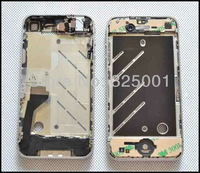 For iPhone 4G Silver Midframe Chassis Full Assembly Bezel Housing Mid Frame + Parts Free Shipping