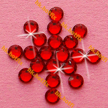 GENUINE Swarovski Elements ss16 Indian Siam Red ( 327 ) 720 Iron on 16ss Hot-fix Flatback Glass Loose Bead Hotfix rhinestones