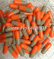 (10,000pcs/lot) Size Size 0 Gray/Orange Color Hard Separated Gelatin Capsule,Empty Capsule--Separated and Joined Available