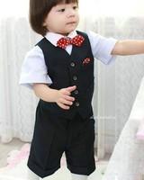 2013 new fashion baby boy clothing set children vest set children suit set free shipping