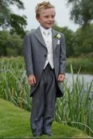 2013 new fashion high quality 7pcs formal grey boys tuxedo free shipping