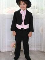 2013 new fashion high quality classic black 4pcs children boy suit  free shipping