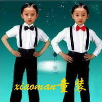 2013 new fashion long sleeve shirt pant children overalls free shipping