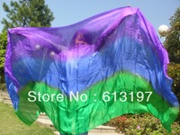 belly dance wemen silk veil 3color purple-blue-green ree shipping Belly dacne silk  veil 250x114cm belly dance silk veil